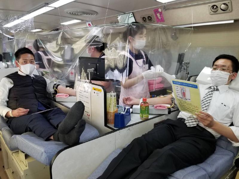 献血イベント「ハートフルサタデー」に参加